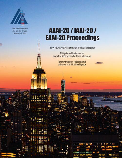 AAAI-20, IAAI-20, EAAI-20 Proceedings Cover