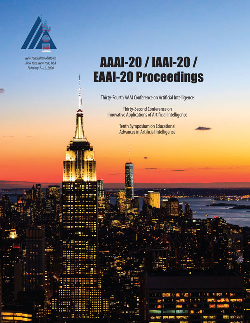 AAAI-20, IAAI-20, EAAI-20 Proceedings Cover