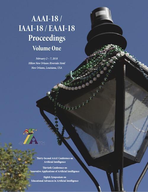 AAAI 2018 Proceedings Cover