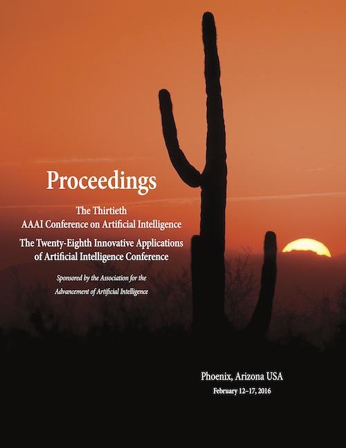 AAAI 2016 Proceedings Cover