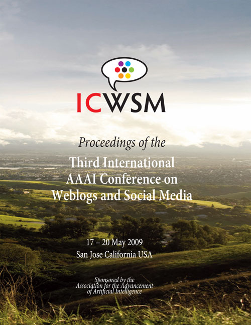 ICWSM-2009 Cover