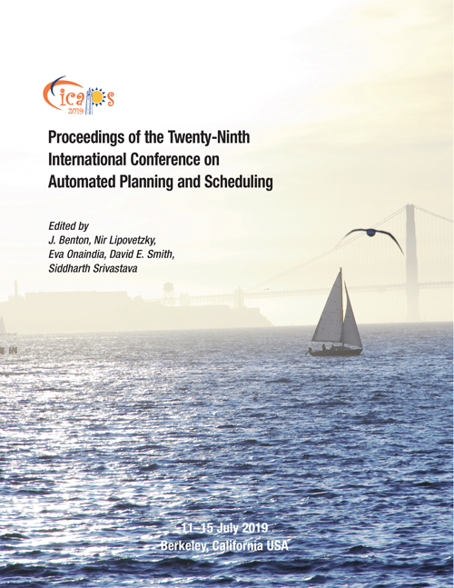 ICAPS 2019 Proceedings Cover, Berkeley, California USA